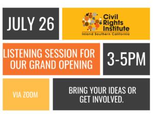 Civil Rights Institute Listening Session